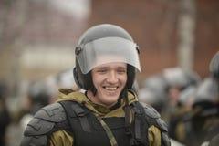 Trenować rosjanin policja zmusza specjalne pacnięcie Zdjęcia Royalty Free