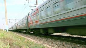 Trens de passageiros do curso Rússia voronezh video estoque