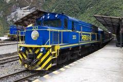 Trens de Peru - de Perurail imagem de stock royalty free