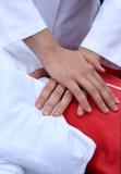 Trens do manequim para fazer a ressuscitação cardiopulmonar fotografia de stock