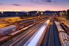 Trens e estradas de ferro de frete fotos de stock royalty free