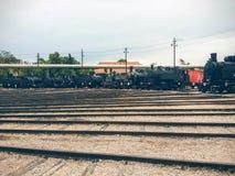Trens velhos fotografia de stock