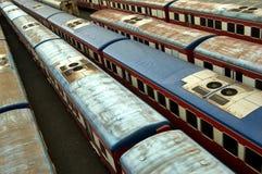 Trens velhos Imagem de Stock