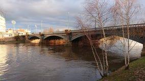 Trent Bridge Nottingham royaltyfri foto