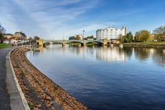 Trent Bridge in nthestad van Nottingham royalty-vrije stock foto's