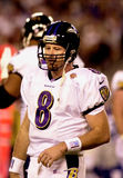 Trent Dilfer, Super Bowl XXXV. Baltimore Ravens QB Trent Dilfer during Super Bowl XXXV. (Image taken from color slide Royalty Free Stock Photography