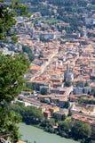 Trent in Italia veduta dalle montagne circostanti Immagini Stock Libere da Diritti
