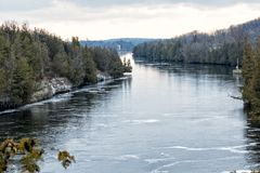 The Trent River. At Campbellford, Ontario, Canada Royalty Free Stock Photo