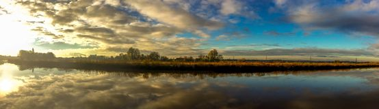 Trent River Panoramic arkivfoto