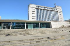 Trent University Nottingham in Inghilterra - Europa fotografia stock