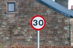 Trenta mph Fotografia Stock