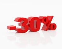 Trenta per cento Immagini Stock Libere da Diritti