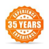 Trentacinque anni di esperienza di icona di vettore illustrazione di stock