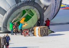 trentacinquesimo festival del pallone di aria calda 2013, Svizzera Fotografia Stock Libera da Diritti