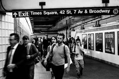 trentaquattresima stazione di sottopassaggio di Hudson Yards della via New York Immagine Stock Libera da Diritti