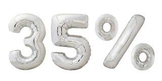 Trente-cinq ballons de chrome de pour cent Photographie stock