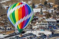 trente-cinquième festival chaud de ballon à air 2013, Suisse Images stock