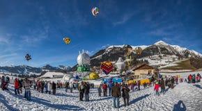 trente-cinquième festival chaud de ballon à air 2013, Suisse Photographie stock libre de droits