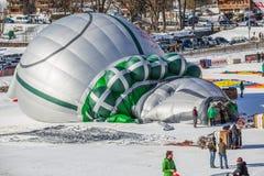 trente-cinquième festival chaud de ballon à air 2013, Suisse Photos stock