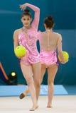 trente-deuxième Championnat du monde en gymnastique rythmique Images libres de droits