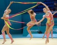 trente-deuxième Championnat du monde en gymnastique rythmique Images stock