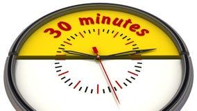 trente minutes sur l'horloge illustration libre de droits