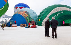 trente-quatrième Festival International de Ballons Images libres de droits