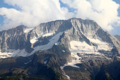 Trentino. Rhaetian Alps in Trentino, Italy. Seen from the road to Tonale Pass. Beautiful mountains stock images