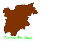 Trentino-Alto Adige map Stock Images