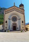 Trentino - Chuch i Mezzacorona Royaltyfria Bilder