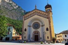 Trentino - Chuch in Mezzacorona Immagine Stock