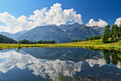 Trentino, Covel jezioro - Obraz Stock