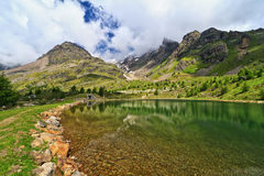 Trentino - Doss dei Gembri lake Royalty Free Stock Photography