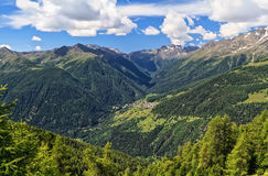 Trentino - Pejo valley overview Royalty Free Stock Photos