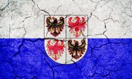Trentino-sul Tirol, região autônoma de Itália, bandeira Imagens de Stock