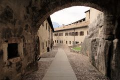 trento Италии замока buonconsiglio Стоковое фото RF