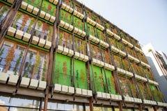 Trento bostads- område Le Albere som för Italien MUSA planläggs av den italienska arkitekten Renzo Piano, år 2013 royaltyfria foton
