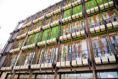Trento bostads- område Le Albere som för Italien MUSA planläggs av den italienska arkitekten Renzo Piano, år 2013 royaltyfria bilder