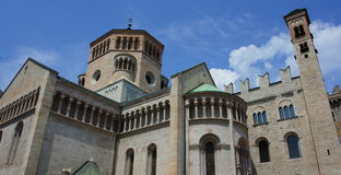 Trento cathedral. (Duomo Di San Vigilio Royalty Free Stock Photo