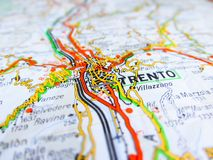 Trento City Over A Road Map ITALY Stock Image Image of road city