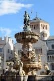 Trento, Fontana - Del Nettuno Obraz Stock