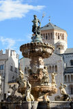 Trento - fontana del Nettuno. Wonderful fountain in piazza Duomo, Trento - Italy Stock Image