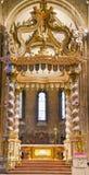 TRENTO, Italia - 21 febbraio 2018: Navata centrale del nella cattedrale di San Vigilio o in cattedrale di Trento, Trentino Alto A fotografie stock libere da diritti