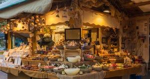Trento Italien, November 22, 2017: Julmarknad, Trento, Trentino Alto Adige, Italien Arkivfoto