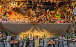 Trento Italien, November 22, 2017: Julmarknad, Trento, Trentino Alto Adige, Italien Arkivbild