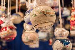 TRENTO, ITALY - DECEMBER 1, 2015 - People at traditional xmas market Royalty Free Stock Photos