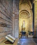 TRENTO, Italy - february 21, 2018: interior of the abbey of san Lorenzo, Trentino Alto Adige, Italy stock image