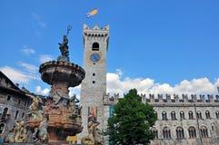 Trento, italy. Main square of Trento, Italy Royalty Free Stock Image