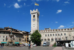 Trento main square, Italy Royalty Free Stock Images