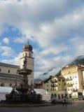 Trento, Marktplatz, Italien Stockfotografie